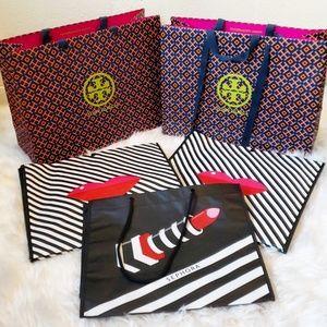 Tory Burch Paper Shopping Bags & Sephora VIB Totes